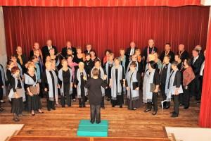 Mélodie et Harmonie interprètent un chant commun à Thonnance les Joinville